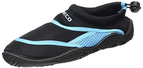 BECO Beermann GmbH & Co. KG Unisex-Kinder Surf-und Badeschuhe-92171 Badeschuhe, Schwarz (Schwarz 0), 35 EU