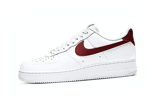 Nike Air Force 1 '07, Zapatillas de bsquetbol Hombre, White Team Red White White, 43 EU