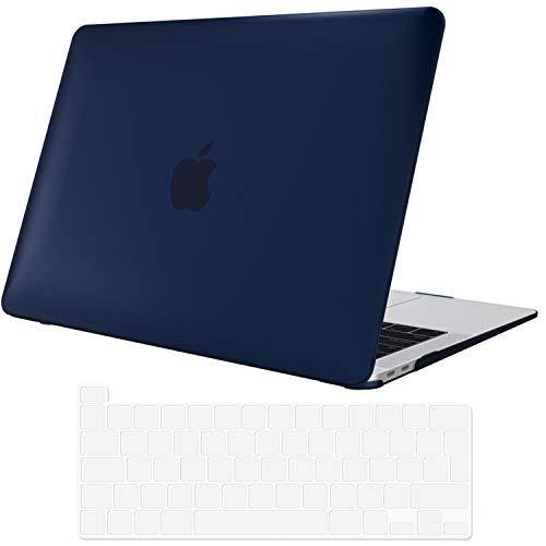 ProCase Carcasa for MacBook Pro 13' M1 2020 A2338 / A2289 / A2251, Funda Dura Ultra Delgada con Revestimiento Engomado para 2020 MacBook Pro 13.3 Pulgadas –Azul Oscuro