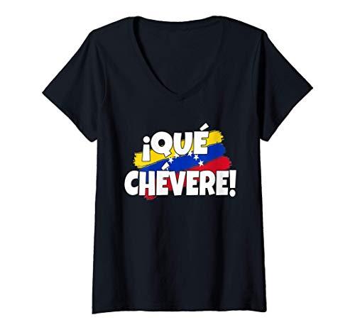 Mujer Frase Divertida Qué Chévere Franela Venezuela Camiseta Cuello V