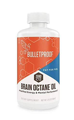 Bulletproof Brain Octane C8 MCT Oil from Coconut Oil Provides Mental and Physical Energy, Keto and Paleo Friendly, Made in USA, 3 Fl. Oz.