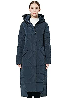 Orolay Women's Puffer Down Coat Winter Maxi Jacket with Hood Navy M from Orolay