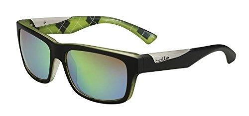 Bollé Jude Lunettes de soleil Homme Matte Black/Lime Brown Emerald Taille M