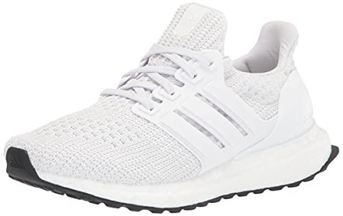 adidas Ultraboost 4.0 DNA Running Shoe, White/White/Black, 4 US Unisex Big Kid