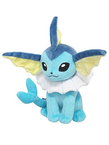 Sanei Pokemon Plush Toy All Star Collection PP110 Vaporeon Peluche (S) Aquali Aquana