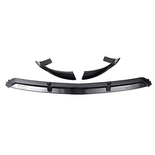 EBXH Difusor del Kit de Cuerpo de Spoiler, para Mercedes para Benz GLC X253 2016-2019 Protector Protector 3PCS X253 Splitter Delantero Delantero del Coche Lippe Chin,Carbon Fiber Look