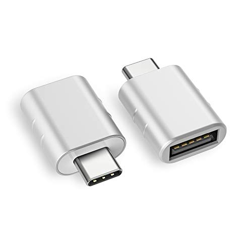 Syntech USB C Adapter auf USB 3.0[2 Stücke] OTG USB Typ C Adapter,Th&erbolt 3 to USB 3.1/3.0/2.0,Kompatibel mit MacBook Pro 2019/2018/2017/Air 2018,Samsung Galaxy,OnePlus,Huawei,Surface-Silber