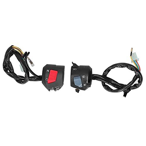 Interruptor de manillar, luz de giro, par de interruptores de manillar, luz de giro, control de bocina, compatible con CB400 1992-1998