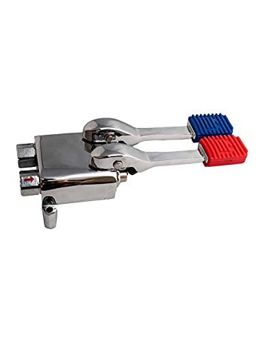 Grifo de pie con dos pedales de agua fría y caliente para fregadero industrial