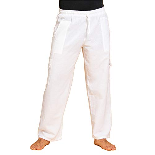 PANASIAM RZI-Cargo Pants White L