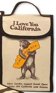 I love you California Bear Hug Insulated Lunch Bag