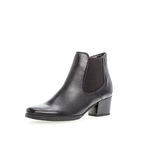 Gabor Damen Stiefeletten, Frauen Ankle Boots,Comfort-Mehrweite,Reißverschluss, Kurzstiefel uebergangsschuhe leger,schwarz (Flausch),39 EU / 6 UK
