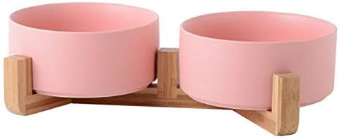 QWEA Ceramic Elevated Cat Bowls - Raised Double Food B and sale New sales Water