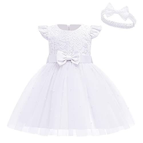 Vestido de Bebé Niña de Flores, de Encaje, con Lazo, para Dama...