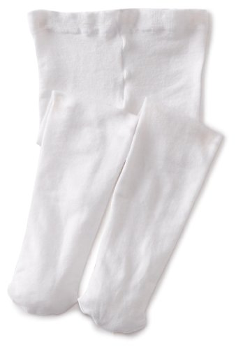 Jefferies Socks Baby Girls' Pima Tight, White, 6 18 Months