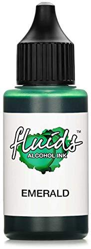 30 ml Fluids Alcohol Ink EMERALD, Alkoholtinte für Fluid Art & Resin, grün