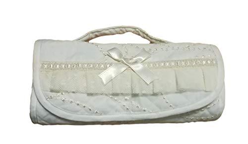 Broderies Fiorentini Beauty portatrucchi matelassé avec Tulle, Dentelle et Ruban de Satin, avec Manche cm 25x14