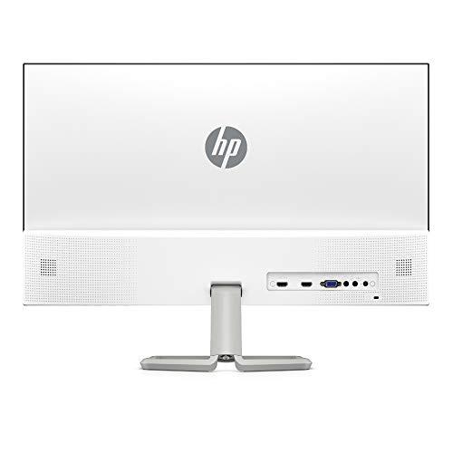 HP 27fw Audio (27 Zoll / Full HD IPS) Monitor (Eingebaute Lautsprecher, 2 x HDMI, 1 x VGA, 1920 x 1080, 60Hz, Reaktionszeit 5 ms) silber, Class A+ - 2