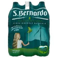 ACQUA S.Bernardo Naturale -- sorgente Roccaviva -- 6 bottiglie da 1,5 Lt -- a 0,50 centesimi a bottiglia