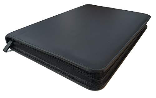 Arkero-G® 18-Pocket Premium Zip Binder Schwarz / Black - 360 Karten Album / Reißverschluss Portfolio - Sammelalbum Pokemon, Magic, Yugioh, Lego
