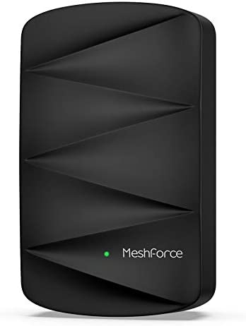 MeshForce M3 Dot Wall Plug WiFi Extender Midnight Black Up to 1 000 Sq ft Coverage Use with product image