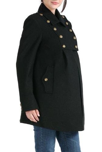 Momo Maternity Outerwear Women's Stella Wool Pea Coat Pregnancy Winter Jacket