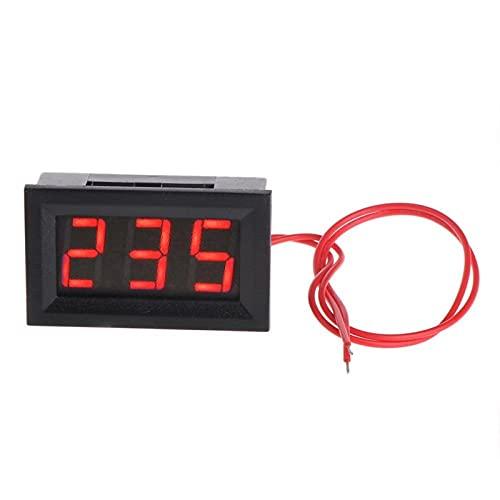 ZHOUCHENPQ Outils Testeur de Moniteur de mètre de Tension de voltmètre numérique de 2 Fils 0.56 AC 30V-500V pour 110V 220V 380V 449C (Color : Red, Measuring Range : AC 30V 500V)