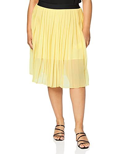 Falda amarilla con negro, para combinar (Amarillo pastel)