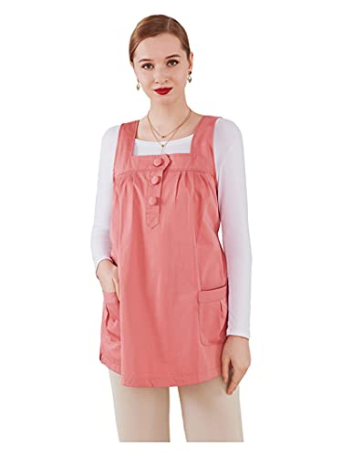 SHXN Radiation Protection Clothing Pregnant Woman,360° Shielding Radiation Anti-Radiation Dresses Maternity Tanks,Pregnant Women Wearing Clothes Four Seasons,Pink,XL