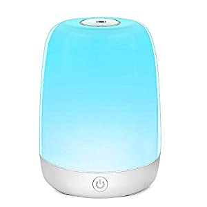 Touch Night Light Bedside Lamp – Dimmable Rechargeable Nursery Lamp for Kids Warm White RGB Color Changing, 72 Hours Runtime for Bedrooms Living Rooms Breastfeeding Sleeping