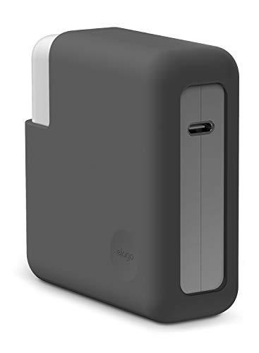 """elago Cover Caricatore in Silicone Compatibile con Apple MacBook Pro 15"""" 16"""" con o senza Touch Bar e ID/Display Retina/Thunderbolt 3 USB-C (A1990 / A1707 / A1398) Alimentatore - Grigio scuro"""