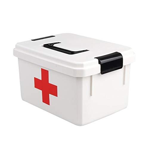 Scatola per medicinali Scatola di medicina di grande capacità, kit di pronto soccorso, scatola di forniture per artigianato, scatola di medicina con vassoio staccabile, valigia grande Scatola per Il P