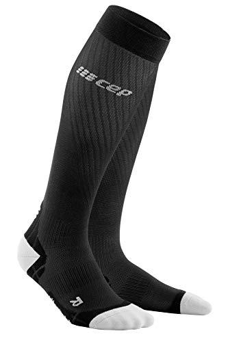 CEP – Ultralight Compression Socks Redesign für Herren | Leichte Laufsocken mit Kompression in schwarz/hellgrau | Größe IV