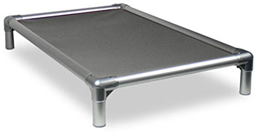Kuranda All-Aluminum (Silver) Chewproof Dog Bed - Mini (25x18) - 40 oz. Vinyl - Smoke