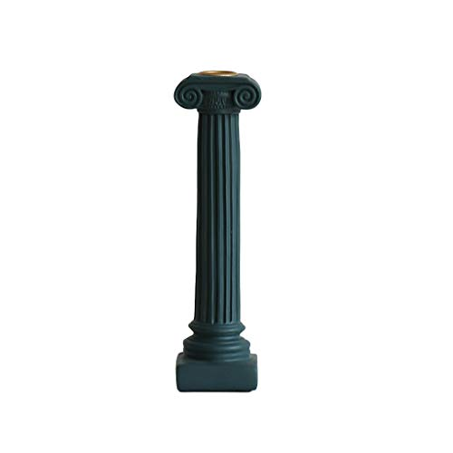 JOYKK Chic antieke Romeinse kolom kandelaar Shabby bruiloft kaars houder tafel Stick