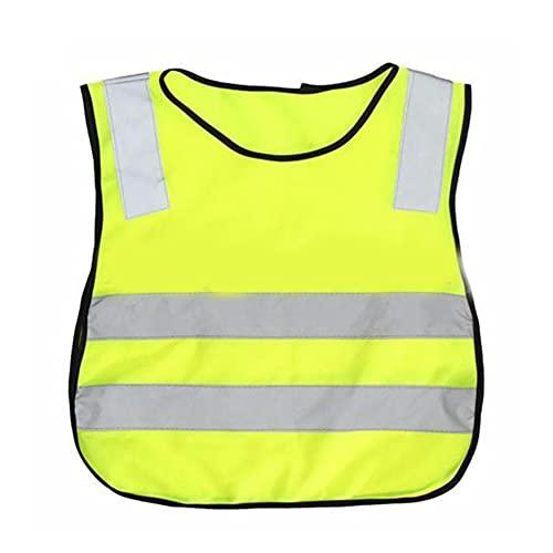 Ukallaite Veste De Haute Visibilité De Gilet De Sécurité D'enfants Pour Le Contrôle Du Trafic D'autoroutes De Travailleur D'hygiène D'écoliers Jaune