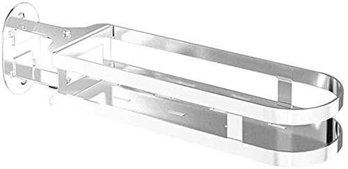 Kjbzlxj Accesorios de baño de esquina, estantes de baño, estante de almacenamiento de pared, soporte giratorio 180°, para colgar en la cocina, cuarto de baño, perfume