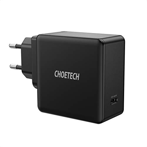 CHOETECH Caricatore da Muro USB C, 60W USB C Power Delivery, Caricabatterie da Muro Ricarica Rapida PD 3.0 per MacBook PRO, MacBook Air, iPad PRO, Galaxy, dell XPS, Huawei, Nintendo Switch e Altri