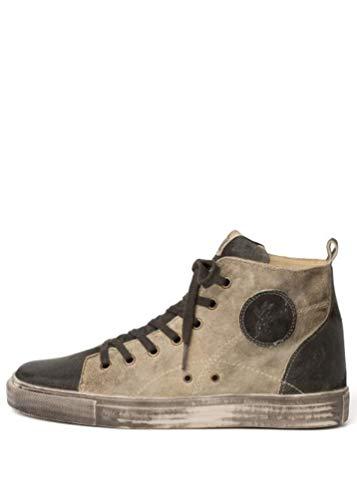 Spieth & Wensky - Herren Trachten Schuhe, Newton Sneaker (030153-1454), Größe:43, Farbe:Sesam/Fenchel (6101)