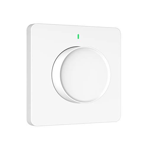 Orbecco Smart Dimmschalter, 2,4GHz WLAN LED Dimmer Lichtschalter APP Fernbedienung Sprachsteuerung Timer, Drehbar Dimmbar Schalter Kompatibel mit Siri Shortcuts/Alexa/Google Assistant - Weiß