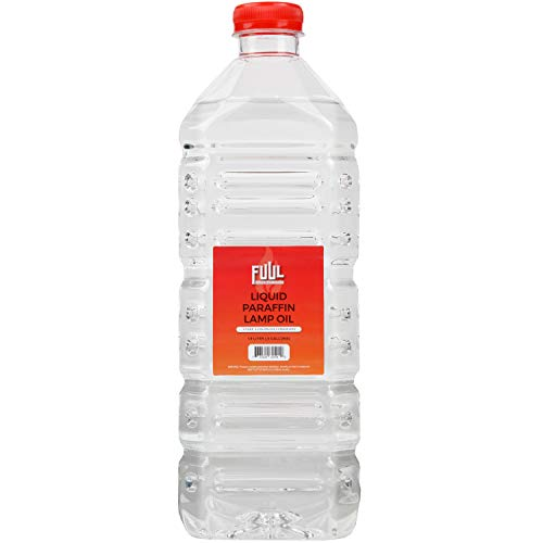 FUUL 1.9L Pure Liquid Paraffin Pure Lamp Oil (67 Ounces)  Smokeless Odorless   Shabbos Liquid Oil