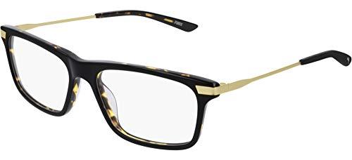 PUMA 0205O 002 55 Herrenbrille, rechteckig.