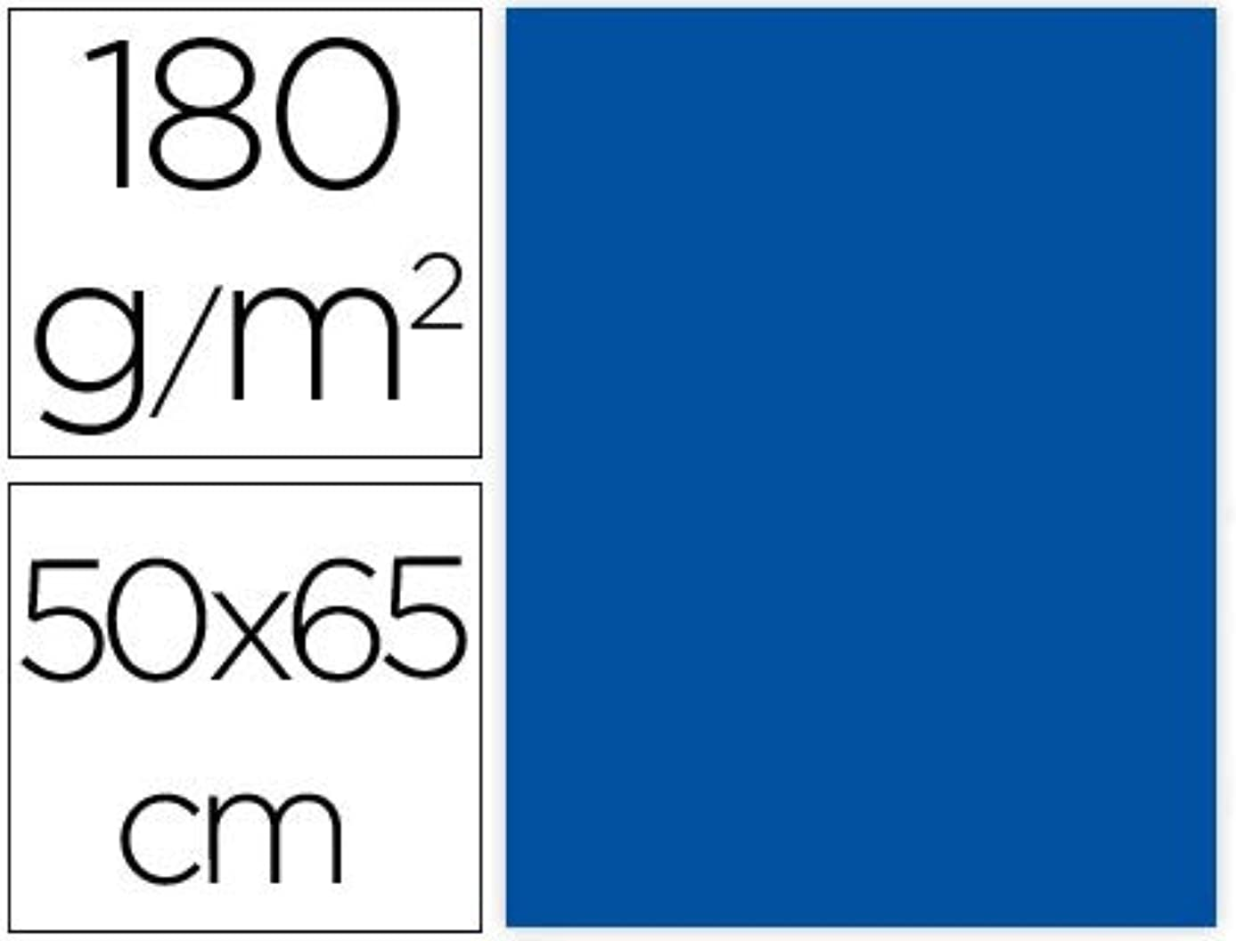Liderpapel CX58 – Pack of 25 Cardstock, 50 x 65 cm, Blue