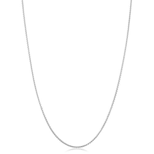 Kooljewelry Sterling Silver Round Wheat Chain Necklace (1.1 mm, 16 inch)