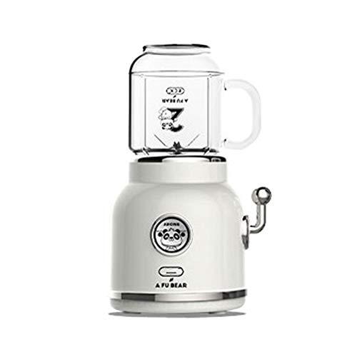 Xfc Saftmaschine, 300W Mini-Multifunktions tragbare elektrische Retro Juicer Gemüse und Obst Extractor Ice Cream Milkshake Milkshake Hersteller,C