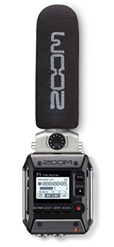 Zoom F1-SP On-Camera Microphone and Recorder, Audio for Video Recorder, Records to SD Card, Outputs...