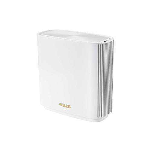 ASUS ZenWiFi AX Tri-Band Mesh WiFi 6 Router (XT8 White), 6.6Gbps, WiFi, 3 SSIDs, Life-time Free Network Security and Parental Controls, 2.5G Port