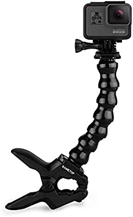 Sametop Jaws Flex Clamp Mount with Adjustable Gooseneck Compatible with Gopro Hero (2018), Fusion, Hero 7, 6, 5, 4, Session, 3+, 3, 2, 1 Cameras