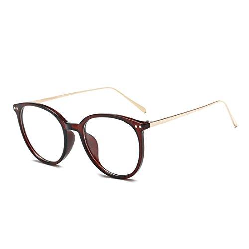 Huicai Vintage Gafas para la miopía Mujer masculina De moda Marco completo Gafas Lentes de resina de marco de metal
