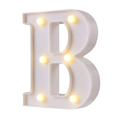 Luces LED para letras de marquesina, 26 letras del alfabeto con luz,...